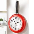 Horloge murale Poêle, rouge