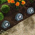 Lot de 3 pierres solaires