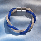 Bracelet, bleu/argenté