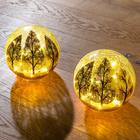 Boule en verre craquelé à LED