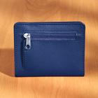 Portemonnaie anti RFID, bleu