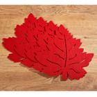 Lot de 4sets de table Feuilles, rouge
