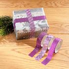 Ruban cadeau 3couleurs violet