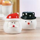 Salière et poivrière Père Noël+Bonhomme de neige