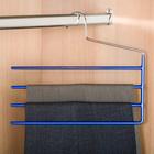 Cintre antiglisse pour pantalons, bleu