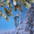 Décoration pour sapin de Noël, bleu