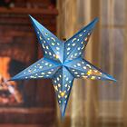 Étoile de Noël à LED, coloris bleu glacier