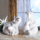 Ours blanc avec son petit