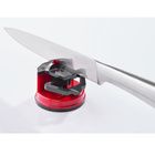 Aiguiseur de couteaux à ventouse, rouge