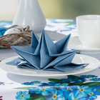 Lot de 12 serviettes, bleu clair