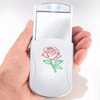 Miroir de poche à LED Rose