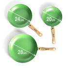 Lot de 3 poêles Basilico, vert