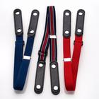Lot de 3 ceintures sans boucle, bleu + fantaisie + rouge