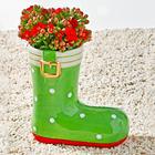Pot de fleurs Botte, vert