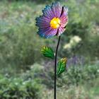 Lampe solaire Gerbera, fuchsia