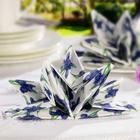 Lot de 8 serviettes Rose, bleu