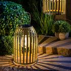 Lanterne solaire en métal, or