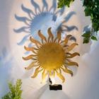 Lampe murale solaire en métal
