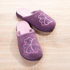 Pantoufles, violet